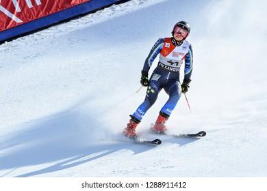 KILLINGTON, VT - NOVEMBER 24: Magdalena Fjaellstroem of Sweden  after the second run of the giant slalom at the Audi FIS Ski World Cup - Killington Cup on November 24, 2018 in Killington, Vermont.