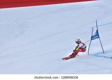 KILLINGTON, VT - NOVEMBER 24: Maryna Gasienica-Daniel of Poland   after the second run of the giant slalom at the Audi FIS Ski World Cup - Killington Cup on November 24, 2018 in Killington, Vermont.