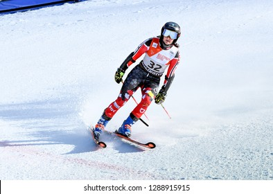 KILLINGTON, VT - NOVEMBER 24: Mikaela Tommy of Canada after the second run of the giant slalom at the Audi FIS Ski World Cup - Killington Cup on November 24, 2018 in Killington, Vermont.