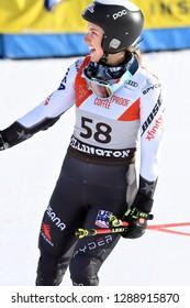 KILLINGTON, VT - NOVEMBER 24: Nina O Brien of USA after the second run of the giant slalom at the Audi FIS Ski World Cup - Killington Cup on November 24, 2018 in Killington, Vermont.