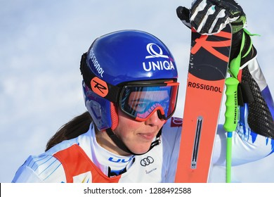 KILLINGTON, VT - NOVEMBER 24: Petra Vlhova of Slovakia after the second run of the giant slalom at the Audi FIS Ski World Cup - Killington Cup on November 24, 2018 in Killington, Vermont.