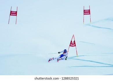 KILLINGTON, VT - NOVEMBER 24: Petra Vlhova of Slovakia at finish area after the second run of the giant slalom at the Audi FIS Ski World Cup - Killington Cup on November 24, 2018 in Killington, VT.