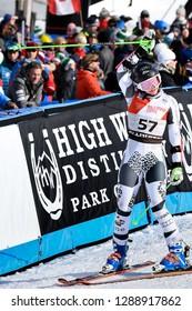KILLINGTON, VT - NOVEMBER 24: Piera Hudson of New Zealand after the second run of the giant slalom at the Audi FIS Ski World Cup - Killington Cup on November 24, 2018 in Killington, Vermont.