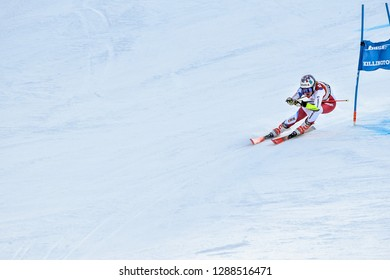 KILLINGTON, VT - NOVEMBER 24: Rachel Kopp of SUI after the second run of the giant slalom at the Audi FIS Ski World Cup - Killington Cup on November 24, 2018 in Killington, Vermont.