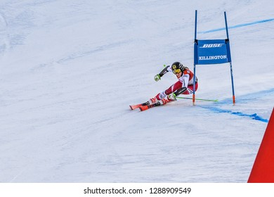 KILLINGTON, VT - NOVEMBER 24: Stephanie Resch of Austria after the second run of the giant slalom at the Audi FIS Ski World Cup - Killington Cup on November 24, 2018 in Killington, Vermont.