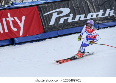 KILLINGTON, VT - NOVEMBER 24: Tessa Worley of France after the second run of the giant slalom at the Audi FIS Ski World Cup - Killington Cup on November 24, 2018 in Killington, Vermont.