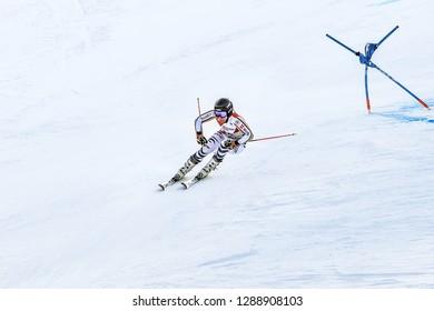 KILLINGTON, VT - NOVEMBER 24: Veronique Hronek of Germany after the second run of the giant slalom at the Audi FIS Ski World Cup - Killington Cup on November 24, 2018 in Killington, Vermont.