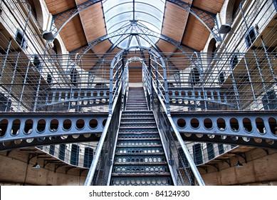 Kilmainham Gaol (Irish: Príosún Chill Mhaighneann), first built in 1796, is a former prison, located in Kilmainham in Dublin, and played an important part in Irish history.