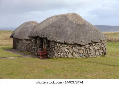 Kilmuir, Isle of Skye, Scotland - October 2 2018: the Skye Museum of Island Life (detail)