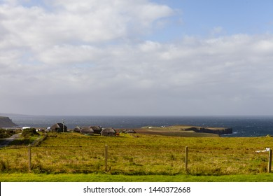 Kilmuir, Isle of Skye, Scotland - October 2 2018: the Skye Museum of Island Life
