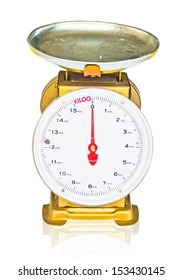 kilograms weight meter on isolated(this image contain clipping path)