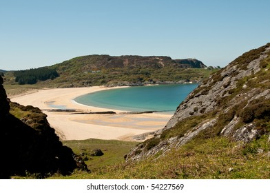 Kiloran Bay Isle of Colonsay with copy space.