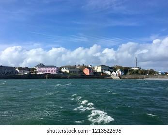 Kilronan, Inishmore  / Ireland - September 19, 2018: Coastal view of the village of Kilronan (Cill Rónáin) on Inishmore (Inis Mór) the largest of the Aran Islands.