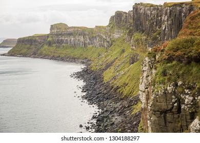 Kilt Rock and Mealt Falls Viewpoint, Highland, Isle of Skype, Scotland, UK