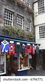 Kilt Shop On The Royal Mile (Lawnmarket), Edinburgh, Scotland