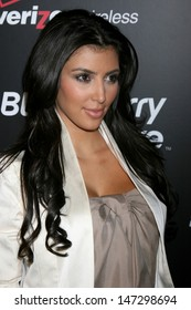 Kim Kardashian arriving at the Launch party for the Blackberry 8330 Pink Curve at Intermix in  Los Angeles, CA on August 27, 2008
