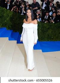 Kim Kardashian attends the 2017 Metropolitan Museum of Art Costume Institute Benefit Gala at The Metropolitan Museum of Art in New York, NY on May 1, 2017