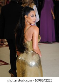 Kim Kardashian attends the Metropolitan Museum of Art Costume Institute Benefit Gala on May 7, 2018 at the Metropolitan Museum of Art in New York, New York, USA