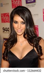 "Kim Kardashian at ""H.E.R. Luau at the Mansion"" benefitting the Nicole Brown Foundation. Playboy Mansion, Holmby Hills, CA. 07-21-07"