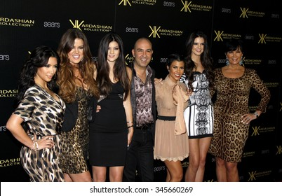 Kim Kardashian, Khloe Kardashian, Kourtney Kardashian, Kris Jenner, Kendall Jenner and Kylie Jenner at the Kardashian Kollection Launch Party held at the Colony in Hollywood, USA on August 17, 2011.