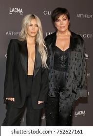 Kim Kardashian and Kris Jenner at the 2017 LACMA Art + Film Gala held at the LACMA in Los Angeles, USA on November 4, 2017.