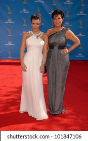 Kim Kardashian and Kris Jenner at the 62nd Annual Primetime Emmy Awards, Nokia Theater, Los Angeles, CA. 08-29-10