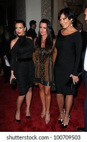 Kim Kardashian, Kyle Richards, Kris Jenner at the QVC Red Carpet Style Event, Four Seasons Hotel, Los Angeles, CA 02-23-12