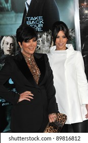 """Kim Kardashian & mother Kris Jenner at the Los Angeles premiere of """"Unknown"""" at the Mann Village Theatre, Westwood. February 16, 2011  Los Angeles, CA Picture: Paul Smith / Featureflash"""
