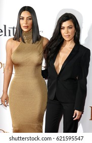 Kim Kardashian West and Kourtney Kardashian at the Los Angeles premiere of 'The Promise' held at the TCL Chinese Theatre in Hollywood, USA on April 12, 2017.