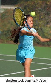 Kimberlee Yee at USTA Junior National Tournament for Girls 12 & Under at Claremont Tennis Club
