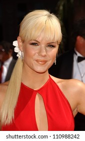 Kimberly Caldwell  arriving at the 59th Annual Primetime Emmy Awards. The Shrine Auditorium, Los Angeles, CA. 09-16-07
