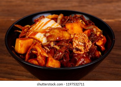 Kimchi with beef and sauce