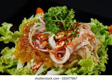 Kimchi Jellyfish - Kimchi Chuka Hotate salad