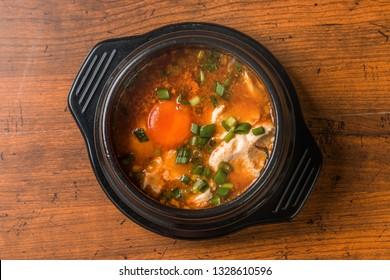 kimchi sundubu-jjigae Korean food