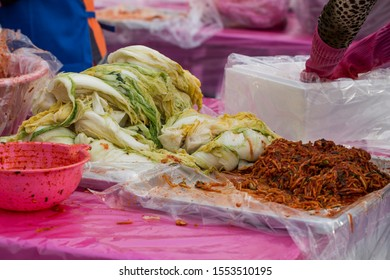 Kimchi, the traditional Korean Food. kimchi-making for the winter