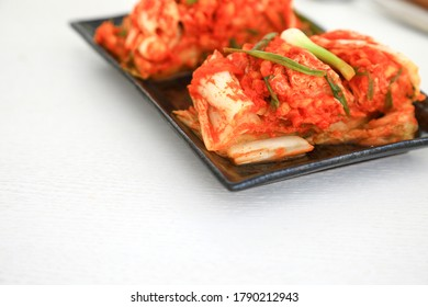 Kimchi is a traditional side dish of salted and fermented vegetables