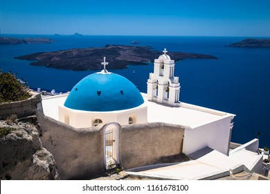 Kimis Theotokov Greek Orthodox Church in Fira  ( Thira ), Santorini island, Greece.