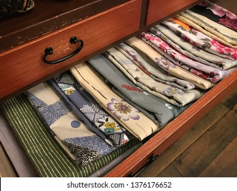 Kimono fabric detail.