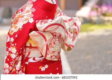 Kimono women/Kimono is a traditional Japanese clothing