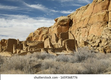 "Kin Kletso ,Navajo for ""yellow house"",Chaco Culture National Historical Park New Mexico USA"