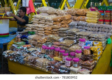 KINABALU, MALAYSIA - May 5 2017: The Kota Kinabalu Handicraft Market (formerly known as the Filipino Market) features vendors selling traditional handicrafts, souvenirs and foodstuffs