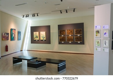 KINABALU,MALAYSIA - 5 May 2017: Sabah Art Gallery has over 3000 paintings, carvings, and sculptures featured.