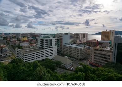 KINABALU,MALAYSIA - 7 May 2017: Cityscape of Kinabalu, the capital city of Sabah state of Malatsia.