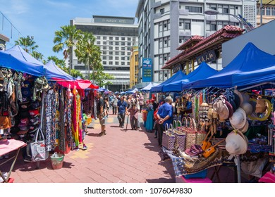 KINABALU,MALAYSIA - 7 May 2017: Sunday Market at Gaya street is famous for local people and tourist.
