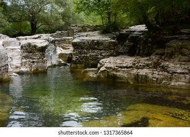 Kinchkha Waterfall near Kutaisi in Georgia