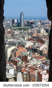 Kind to Barcelona from Sagrada Fam���lia cathedral