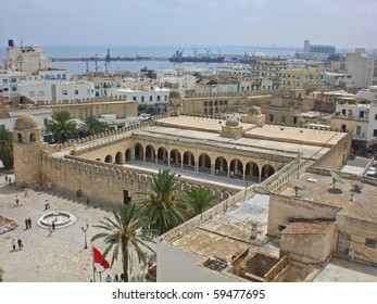 Kind on the city of Suss from the Big Mosque, Tunis. - Shutterstock ID 59477695