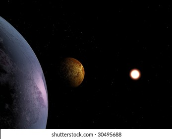 Kind of our planet in space