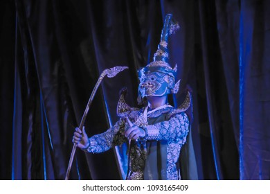 Kind of Thai drama ,Thai performance called Khon, It is Thai traditional drama dance performance in masked.