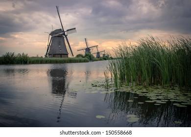 Kinderdijk dutch windmill culture